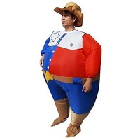 SHERIFF Inflatable Suit Fan Operated Costume