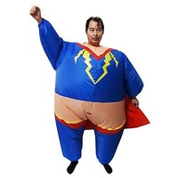 Super Hero Inflatable Suit Fan Operated Costume