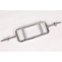 Chrome Tricep Bar Barbell, Spinlock Collars