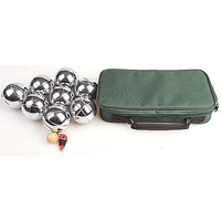 Deluxe Boules Bocce 8 Alloy Ball Set w/ Canvas Case