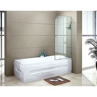 Frameless Corner Shower Bath Screen Panel 700mm