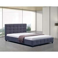 Palermo Deluxe Double Fabric Linen Bed Frame Grey