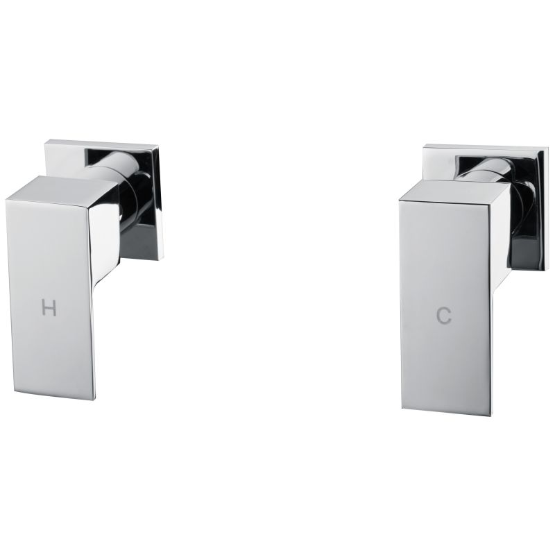 square shower amp bath mixer tap set in chrome buy wall mixers bath shower mixer set thermostatic 2 way shower mixer