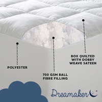 Dreamaker Ball Fibre Mattress Topper 5 Sizes