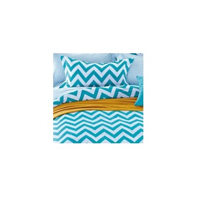 Zig Zag Queen Cotton Doona Quilt Cover Set 250TC