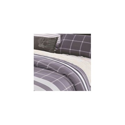 Contrast Queen Cotton Doona Quilt Cover Set 250TC