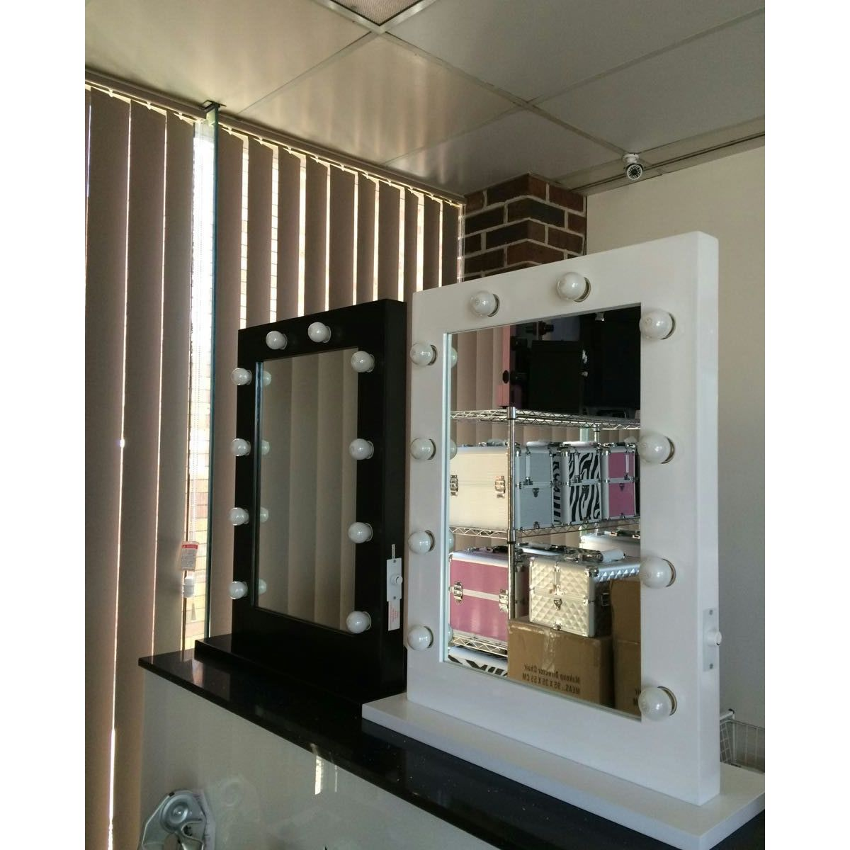 Hollywood Vanity Makeup Mirror With Lights in Black Buy Mirrors