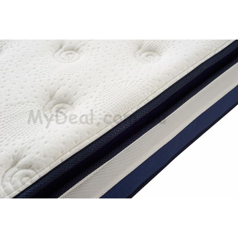 Double Size Latex Pillow Top Pocket Spring Mattress
