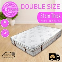 Pocket Spring Double Mattress Wave Foam Pillow Top