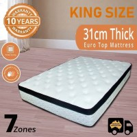 King Pocket Spring Memory Foam Pillow Top Mattress