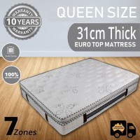 Queen Pocket Spring Natural Latex Pillow Mattress