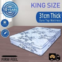 Luxury King Mattress Pocket Spring with Pillow Top