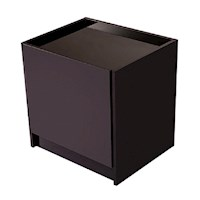 Elva Bedside Table with Drawer in High Gloss Black