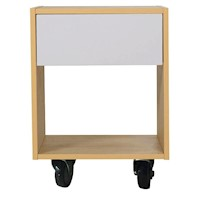 Maple Syrup Industrial Bedside Table with 4 Castors