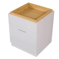 Emily Bedside Table with Storage Top & Drawer White