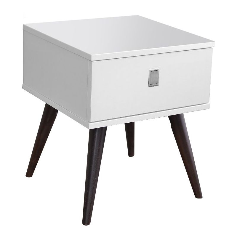 Vino bedside table with drawer in gloss white buy for Buy white bedside table