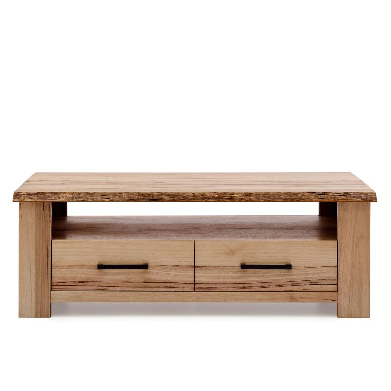 Messmate Oak Solid Timber Coffee Table With Drawers Buy Tables