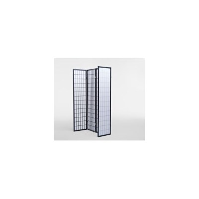 4 Panel Wooden Room Partition Divider Screen Black