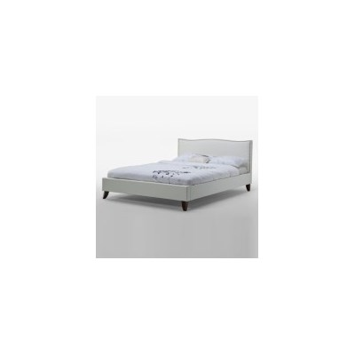 Alice Double Bed Frame in French White PU Leather