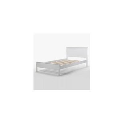 Single Size Rojo Bed Frame in White Rubber Wood