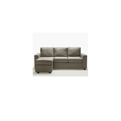 Ella Three Seater L-Shape Lounge Rice Grey Fabric