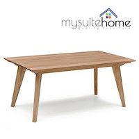Alison Modern White Oak Veneer Dining Table - 1.8m