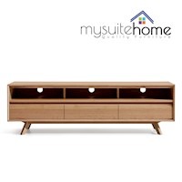 Alison Modern White Oak Veneer TV Unit Stand