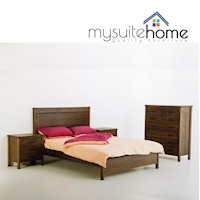 New York Queen Bed Frame Tasmanian Oak Stain Finish