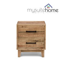 Portland Recycled Timber Bedside Table Night Stand