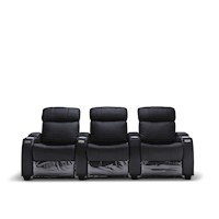 Anna Electric Recliner Leather Armchair for 3 Black