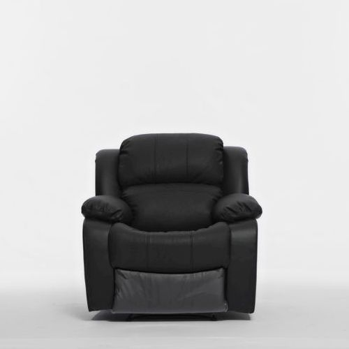 kacey single recliner chair in black pu leather buy recliner chairs