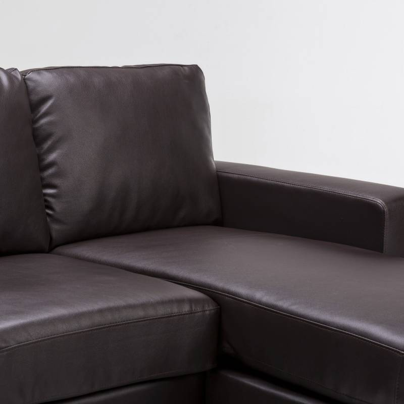 Olivia l shaped couch with chaise lounge in brown buy for L shaped chaise lounge