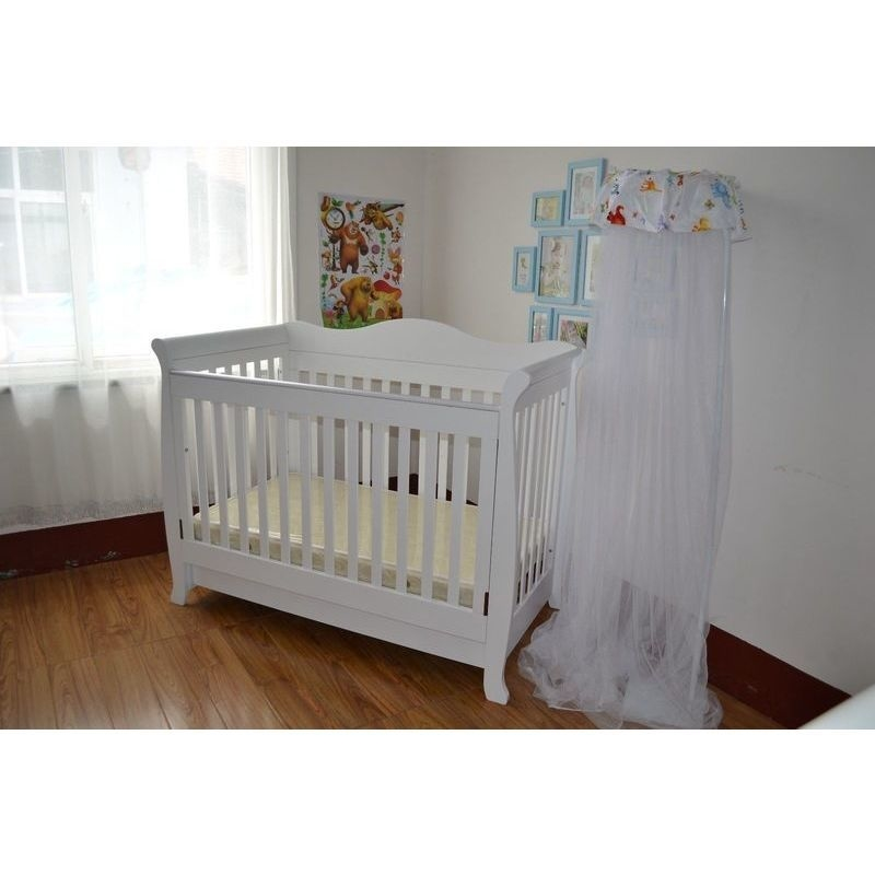 White Wood Toddler Bed