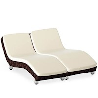 El Vita Outdoor Sunbed, Brown, x2