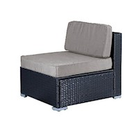 Lanikai Outdoor Dining Middle Sofa Chair Grey