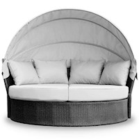 Avoca Wicker Outdoor Daybed & Sofa Lounge in Grey
