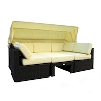 Himara Outdoor Modular Sofa Day Bed w/ Sun Shade