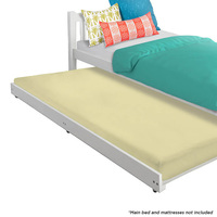 Vita Single Size Roll Out Trundle Bed in White