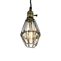 Ashby Vintage Wire Cage Pendant Light in Bronze