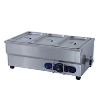 Momi Oswell 3 Pan Commercial Bain Marie Food Warmer