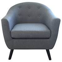 Kouvola Scandinavian Sofa Armchair in Azure Grey