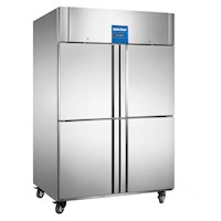 Stainless Steel 4 Door Commercial Freezer 1400L