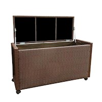 Tolworth Poly Rattan Outdoor Storage Box Brown 230L