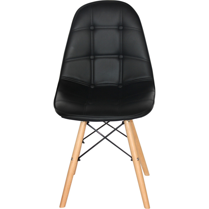 4x luxo vega modern pu leather dining chairs black buy dining chairs