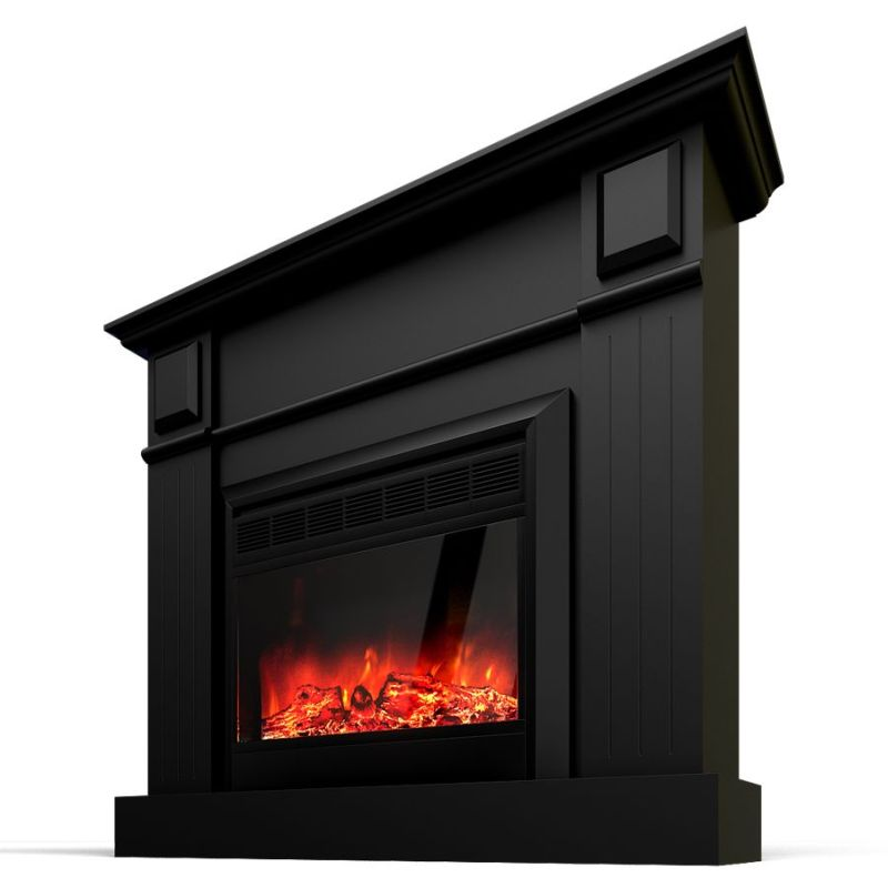 Grace Mantel Electric Fireplace Heater Black 1600w Buy Electric Fireplaces