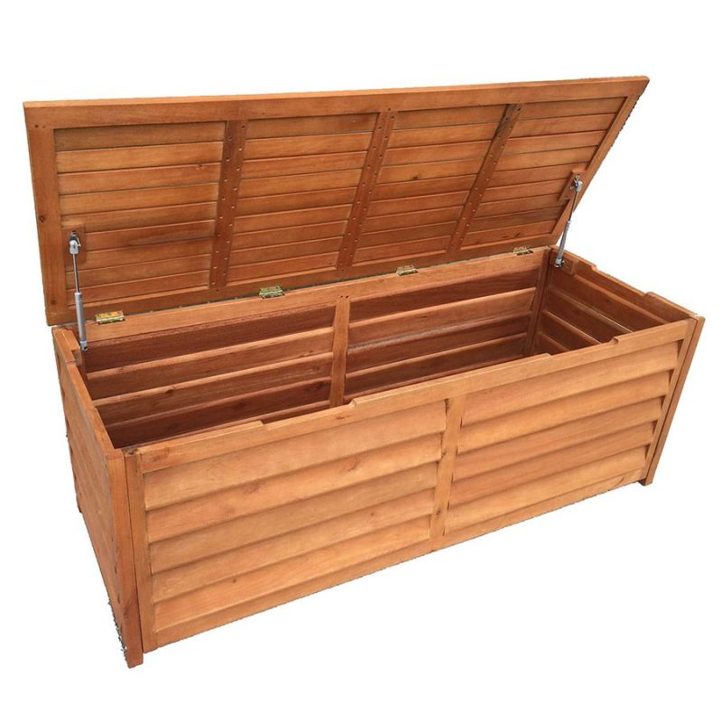 Outdoor Timber Storage Chest 3 Seat Bench 150cm Buy Outdoor Storage Boxes