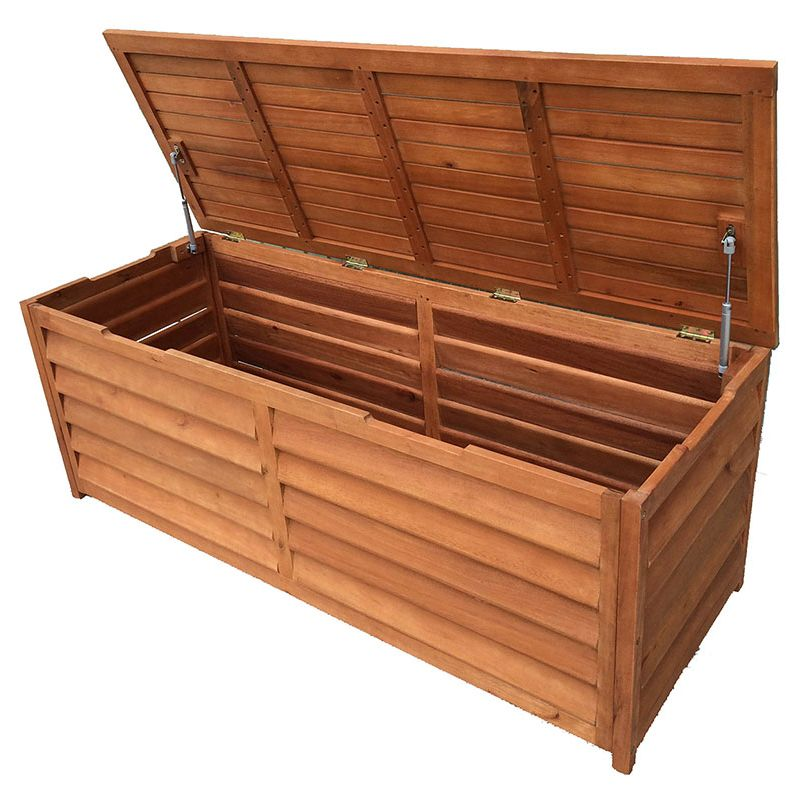 Outdoor Timber Storage Chest 3 Seat Bench 150cm Buy