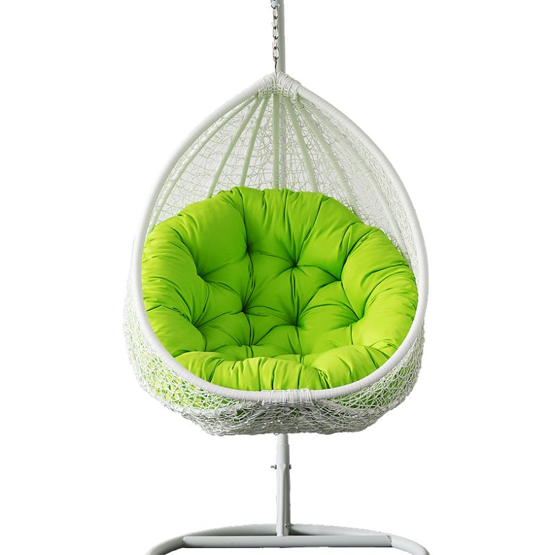 Outdoor Wicker Hanging Egg Chair in White
