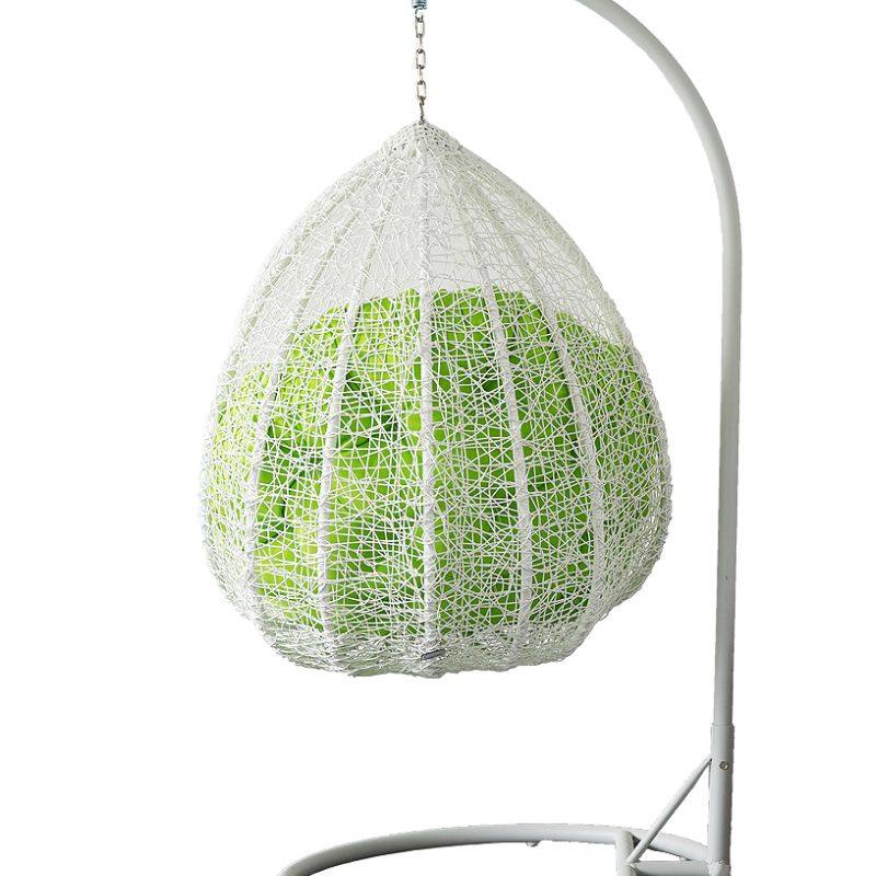 Outdoor Wicker Hanging Egg Chair In White Buy Rattan Wicker