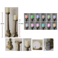 Flameless Electric Candle Lamp Multicolour Set of 8